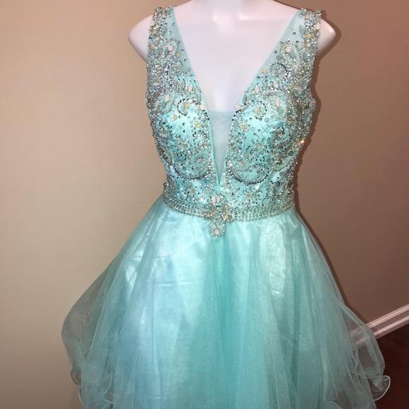 Nox Dresses Narianna Mint Beautifully Beaded Formal Dress Poshmark